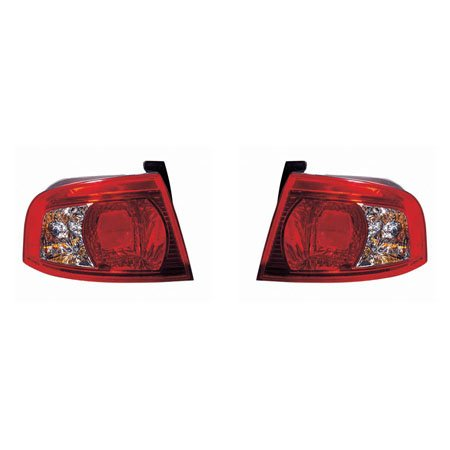 CarLights360: Fits 2003 2004 2005 2006 KIA MAGENTIS Tail Light Pair Driver and Passenger Side W/Bulbs Replaces KI2800117 KI2801117