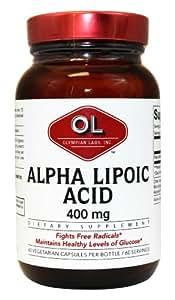 Olympian Labs Alpha Lipoic Acid 400mg, 60 Capsules (Pack of 2)