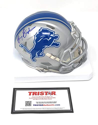 Barry Sanders Detriot Lions Signed Autograph Speed Mini Helmet Tristar Authentic Certified