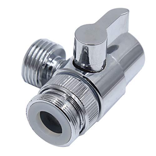 Guoshang Brass Chrome 3 Way Diverter T Shape Adapter Connector for Angle Valve Hose Bath Shower Arm Toilet Bidet