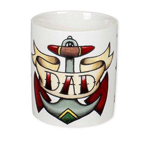 Dad Anchor Sparrow Tattoo 12 Ounce Ceramic Coffee Mug