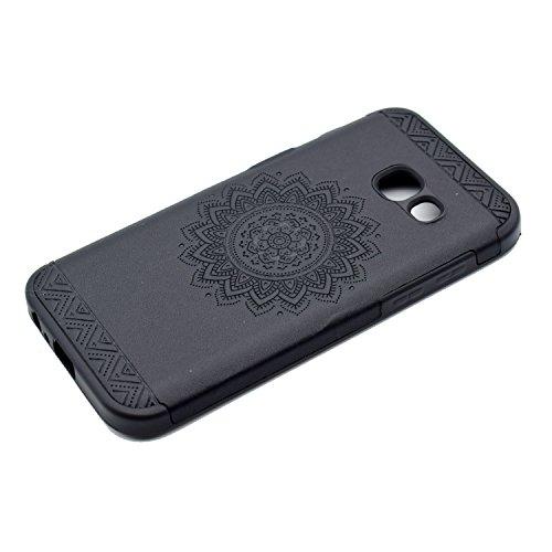 inShang Funda para Samsung Galaxy A3(2017) suave TPU Carcasa Cajas Soporte Skin case cover Para Galaxy A3(2017) + clase alta 2 in 1 inShang marca negocio Stylus pluma Black printing