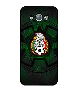 ColorKing Football Mexico 08 اسود shell case cover for Samsung A8