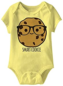 A&E Designs Smart Cookie Funny Romper Infant Yellow Baby Creeper