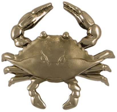 Blue Crab Door Knocker - Nickel Silver (Premium Size) by Michael Healy Designs