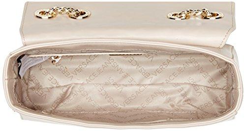 Versace Jeans Linea D, Borsa a Tracolla Donna, Marrone (Legno), 8x15.5x23.5 cm
