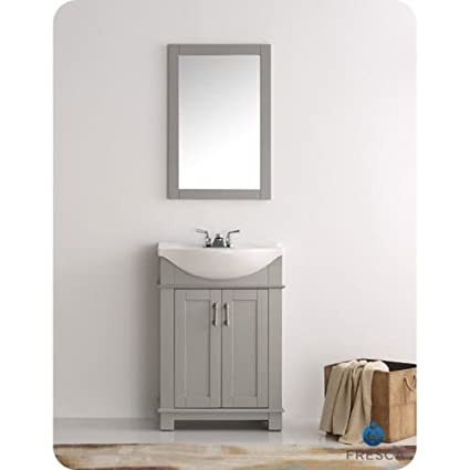 Fresca FVN2302GR CMB Hartford 24u0026quot; Gray Traditional Bathroom Vanity