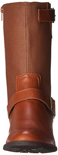 Hush Puppies Lola Chamber Damen Stiefel, Tan WP Leather/Canvas, 37.5 EU / 4.5 UK / 6.5 US