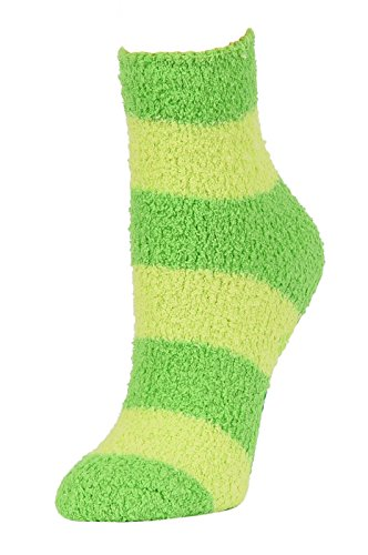 Anti-Skid Gripper Stripe Plush Socks (06-8
