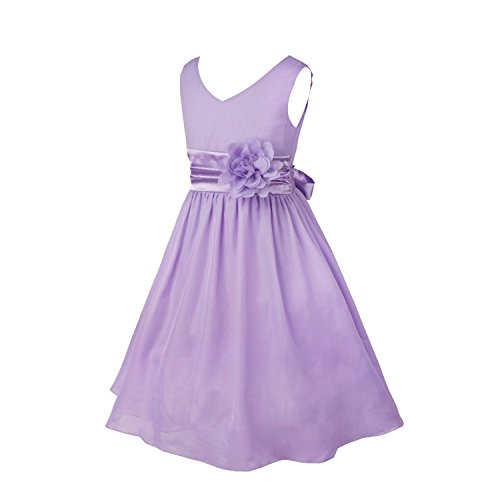 Amazon.com: iiniim Kids Girls V Neck Chiffon Pageant Wedding Bridesmaid Summer Party Flower Girl Dress: Clothing