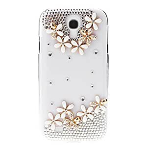 GOG-ships in 48 hours Babysbreath and Pearl Pattern Transparent Hard Back Cover Case for Samsung Galaxy S4 I9500
