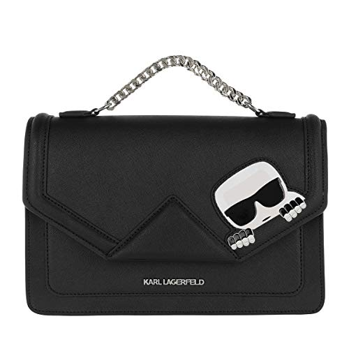 Body Ikonik Cross nero metallo Lagerfeld Black Donna K taglia Klassik Bag Karl unica Shoulderbag qEwBxTFH0