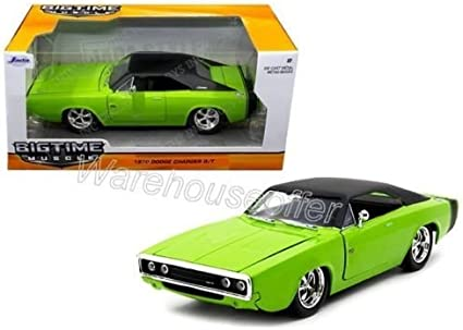 New 1:24 W//B BIG TIME MUSCLE GREEN 1970 DODGE CHARGER R//T Diecast Model Car By Jada Toys by Jada