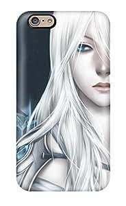 Fashion Tpu Case For iphone 6 plus- Original Blue Artwork Whitegothic Defender Case Cover