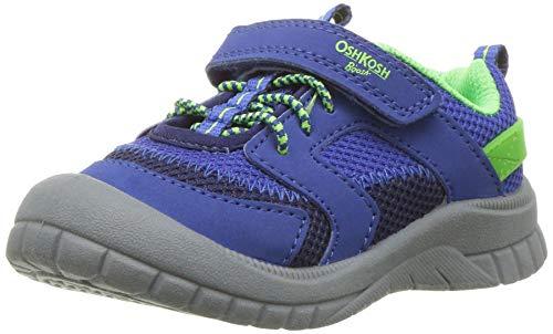 OshKosh B'Gosh Lago Boy's Mesh Bumptoe Sneaker, Blue, 7 M US Toddler