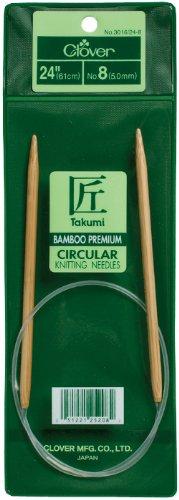 Aguja Circular Clover Takumi Bamboo 61cm  - 11