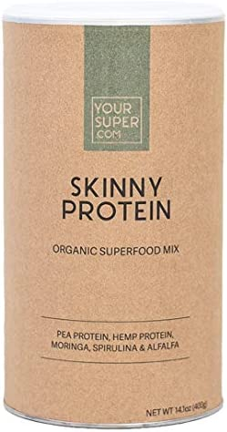 Skinny Protein Superfood Mix by Your Super Plant Based Protein Powder Lose Weight Control Hunger Post Workout Recovery Essential Amino Acids Non-GMO, Organic Ingredients