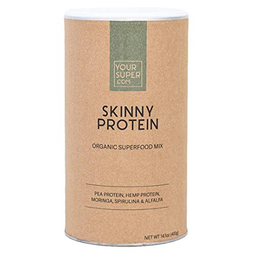Skinny Protein Superfood Mix by Your Super | Plant Based Protein Powder | Lose Weight & Control Hunger | Post Workout Recovery | Essential Amino Acids | Non-GMO, Organic Ingredients - Super Smoothie Mix