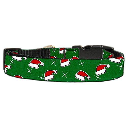 Christmas Ribbon Pet Collar Dog (Mirage Pet Products Santa Hat Nylon Ribbon Collar for Dogs, X-Small)