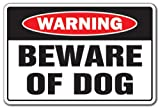 "BEWARE OF DOG Warning Sign dog pet parking pit bull signs security guard dog| Indoor/Outdoor | 12"" Tall"