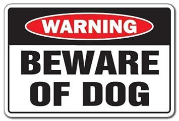 Amazoncom Signmission Beware Of Dog Warning Sign Dog Pet Parking