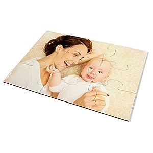 LolaPix Puzzle Bebe Personalizado. Personaliza con tu Foto. Puzzle Cartón Acabado Brillante. Varios tamaños. 9 Piezas 12