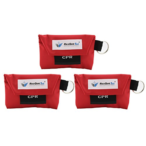 Barrier Keychain (CPR One-way Valve Mask: with Latex Free Gloves (3))