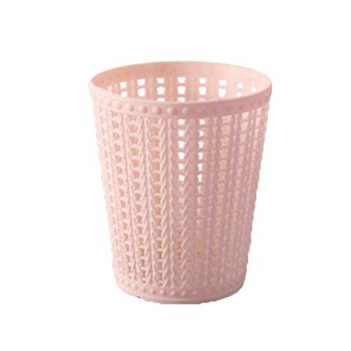 Lavany Mini Desktops Trash Can,Creative Trumpet Desktops Trash Cans Covered Living Room Office Kids Bedroom (Pink)