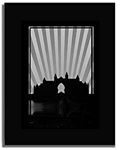 Atlantis - Black And White No Text F04-m (a5) - Framed