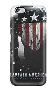 Excellent Design Captain America Phone Case For Iphone 6 Plus Premium Tpu Case