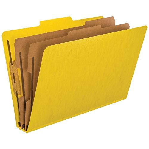 Pressboard 2 Divider (Pendaflex Top-Tab Pressboard Classification Folders, 2/5 Cut, 2 Dividers, Legal Size, Yellow, 10 Per Box (2257Y))