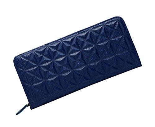 monnaie Porte Cuir Elégant En Bleu Femme Motif Femmes Cadeau Zippé Acmede® Portefeuille Pour Grand Rangements Capacité Noël Avec Longue 8 De Cartes noir tqIXn