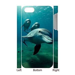 LIULAOSHI Cute Dolphin Phone Case for iphone4 3D [Pattern-5] by runtopwell