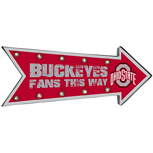 Forever Collectibles NCAA Ohio State Buckeyes Sign, Team Colors, One Size