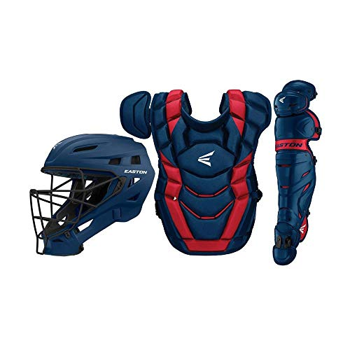 Gear Custom (Easton Elite x Custom Catcher Box Set Elite-x Custom Catchers Set NY/Rd, Navy/Red, Adult)