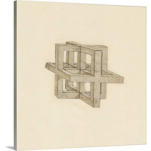 - Leonardo da Vinci Solid-Faced Canvas Print Wall Art Print Entitled Study of Perspective, from Atlantic Codex 20