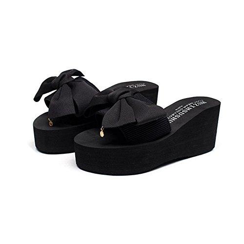 CHENGXIAOXUAN à Chaussures 7cm Romaines Pantoufles de Chaussures Décontractées Chaussures Plage Chaussures Plates Femme Et Talons Sandales Pantoufles Talons Talon B Chaussures à Tongs WHwA4HYqr8