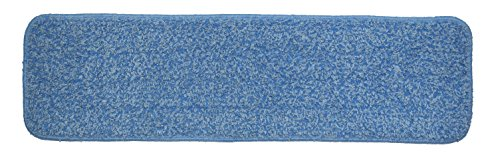 Nine Forty | Industrial | Commercial Microfiber Hardwood Floor Dust Mop with Handle for Floor Cleaning Set | 18'' Flat Frame Mop Head Pad by Nine Forty (Image #3)