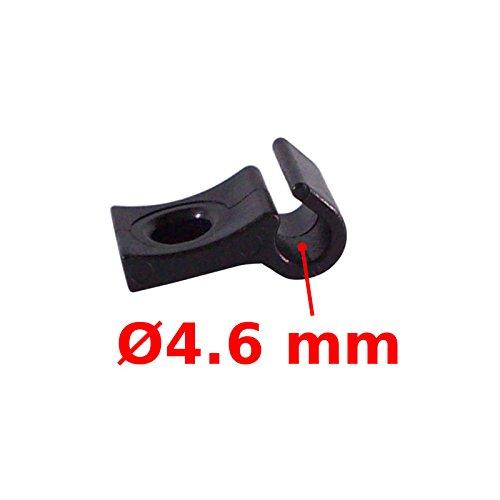 SINGLE CABLE HOLDER HOUSING GUIDE FIX DIAMETER 4-5mm BRAKE DERAILLEUR GEAR BIKE MTB ROAD VINTAGE ()