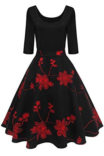 Babyonlinedress Vintage Vestiti Donna, Vestiti Donna Estate Vestiti Rinascimento Donna Vestiti 50 Anni Mediavale Vestito Elegante Audrey Hepburn per la Sera, Cerimonia, Causale Fs2224