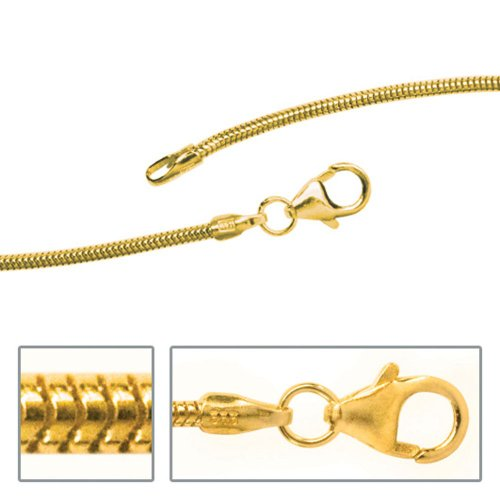 Bijoux femmes chaine de serpent à environ 45 cm de long 333 or jaune