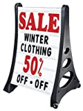 SmartSign Deluxe Quick-Load A-Frame Sidewalk Sign and Letter Kit - White | 42'' x 29'' x 24'' (H x W x D)