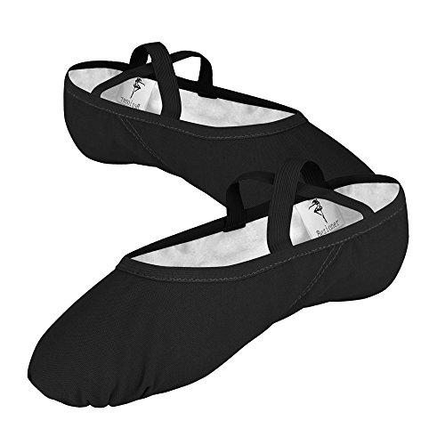 Scarpe Donna 44 Flying Danza Nero Ragazze 35 Nero Skyrocket Yoga Danza EU per EU25 nbsp;~ da Mezza Tela Balletto di Punta nbsp;Morbido Pantofole Palestra PCExYdxqw