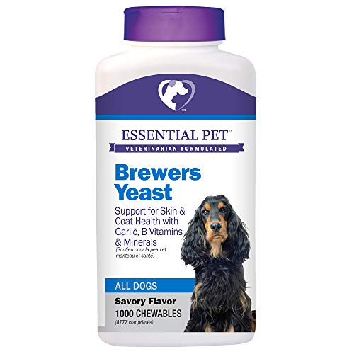 (Essential Pet Products Brewers Yeast Chewable Tablets with Garlic, B Vitamins & Minerals for Dogs)