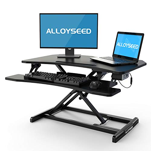 Alloyseed Electric Adjustable Sit to Stand Desk Only $211