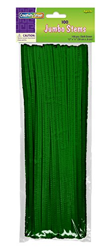 Creativity Street Chenille Stems/Pipe Cleaners 12 Inch x 6mm 100-Piece, Green