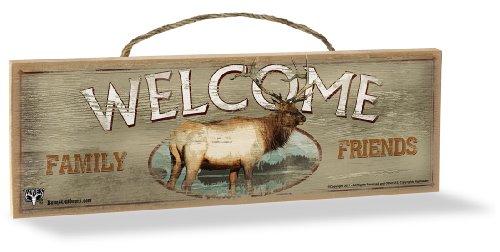 Elk Sign (Advanced Graphics Wood Sign, Elk Welcome)