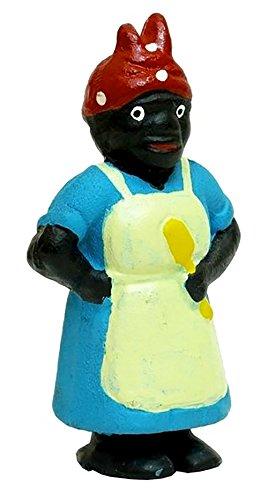 cast iron black lady penny bank - 3