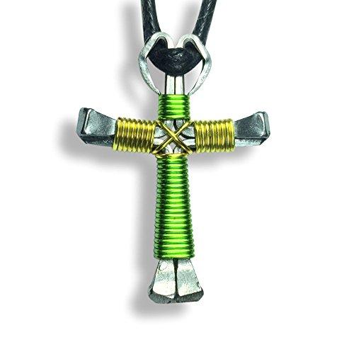 Multi-Colored Horseshoe Nail Crosses - You Pick Colors! (Lime & Yellow) (Colored Multi Cross Yellow)