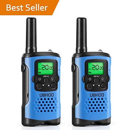 (UOKOO walkie talkies for Kids, 22 Channel 2 Way Radio 3 Mile Long Range Kids Toys & Handheld Kids Walkie Talkies, Best Gifts & Top Toys for Boy & Girls)
